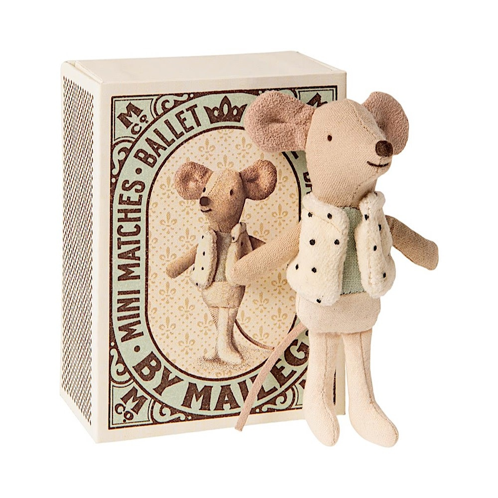 Maileg Mouse -  Little Brother Dancer in Matchbox