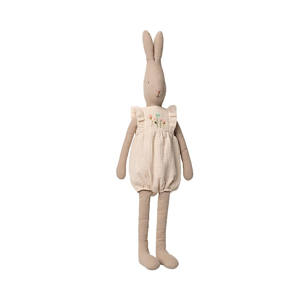Maileg Rabbit - Off White Jumpsuit - Large Size 5