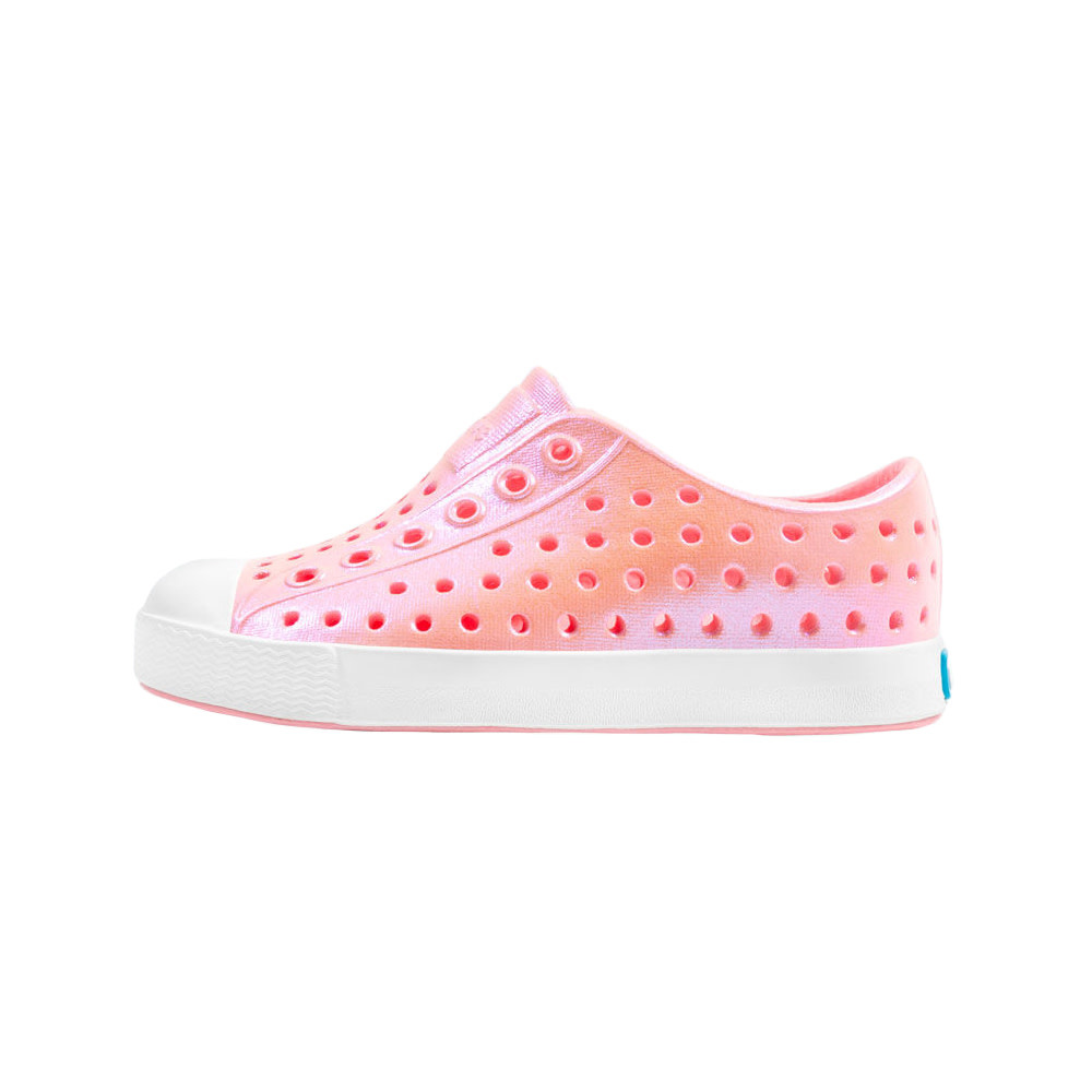 Native Shoes Native Shoes Jefferson Child - Princess Pink/Shell White/Galaxy Iridescent