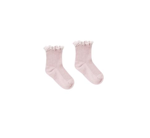Rylee + Cru Lace Trim Socks - Lilac