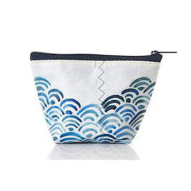 Sea Bags Sea Bags Cosmetic Bag - Watercolor Waves - Small