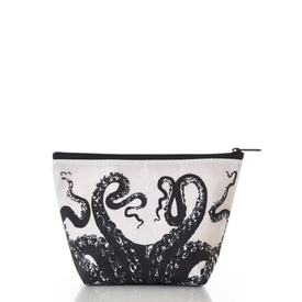 Sea Bags Sea Bags Black Octopus Cosmetic Bag - Large