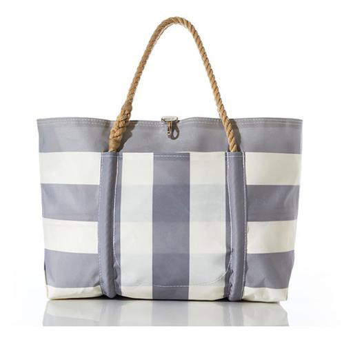 Sea Bags Sea Bags Grey Pier Tote - Hemp Handle - Large