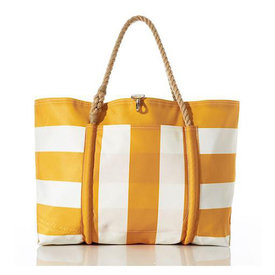 Sea Bags Sea Bags Yellow Pier Tote - Hemp Handle - Large