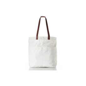 Sea Bags Sea Bags Market Tote - Off White - Leather Handles