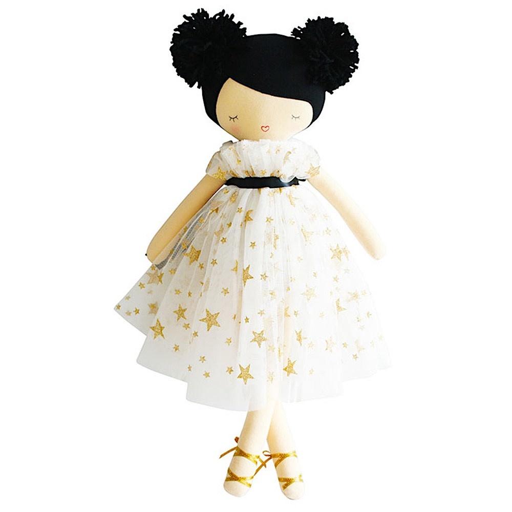 "Alimrose Iris Pom Pom Doll - Gold Star 19"""