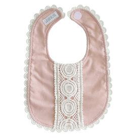 Alimrose Alimrose Olivia Bib - Pink Linen