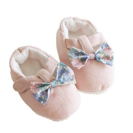 Alimrose Alimrose Bow Booties - Liberty Blue - 0-6M