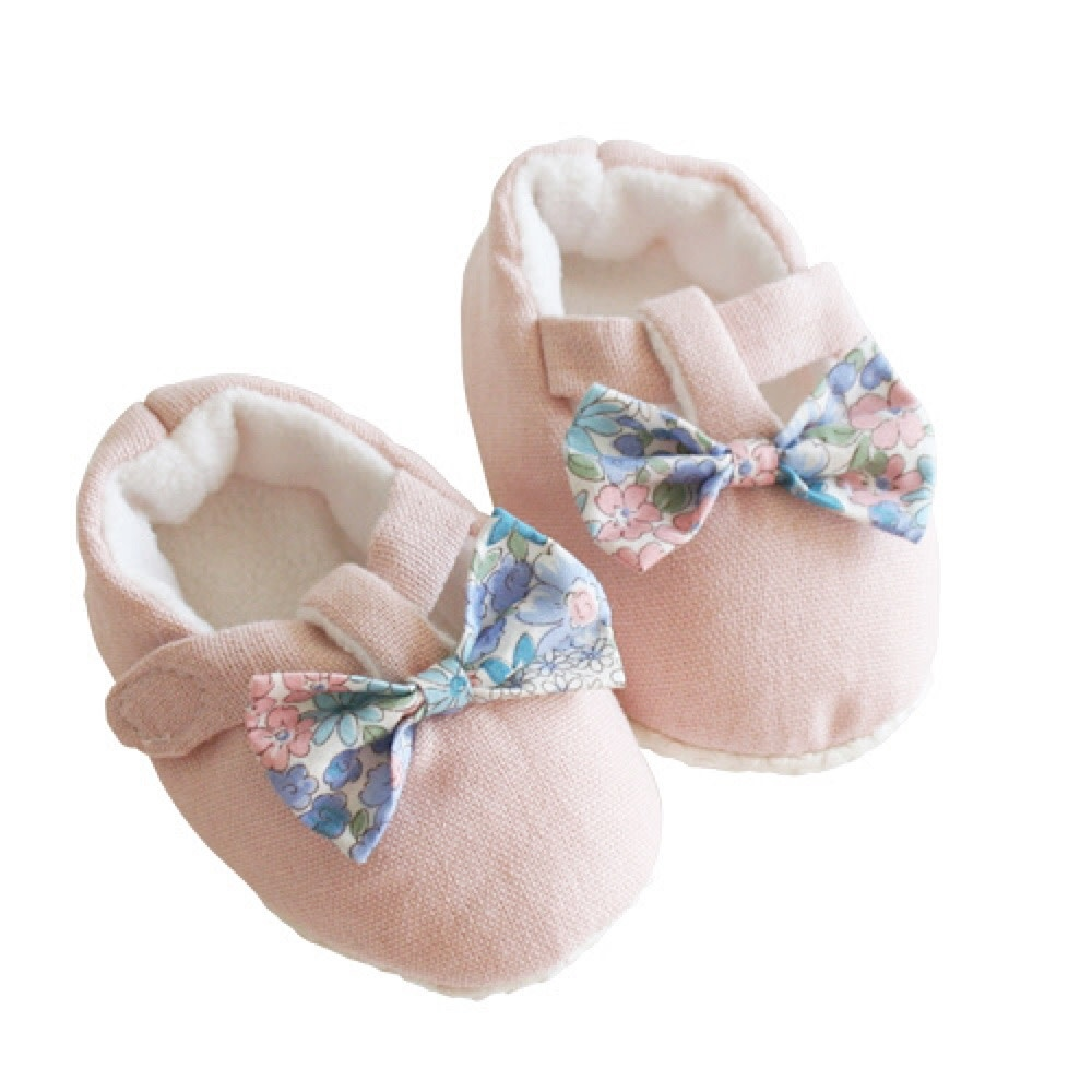 Alimrose Bow Booties - Liberty Blue - 0-6M