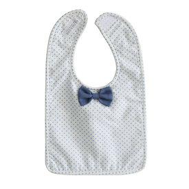 Alimrose Alimrose Bow Tie Bib - Blue Spot