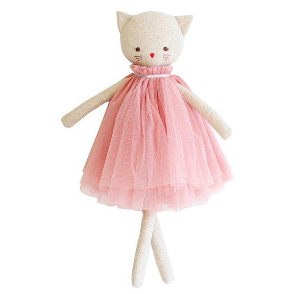 "Alimrose Alimrose Aurelie Linen Cat Doll - Blush 17"""