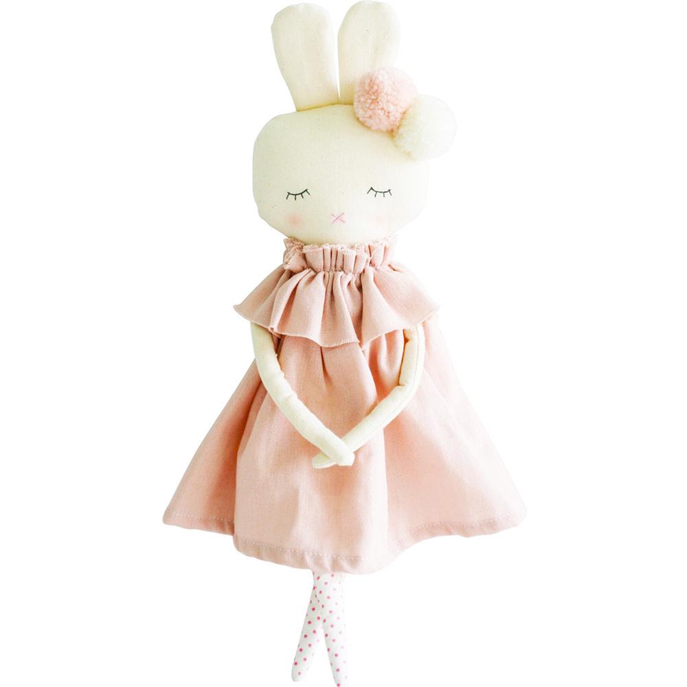 "Alimrose Isabelle Bunny - Pink Linen 15.5"""
