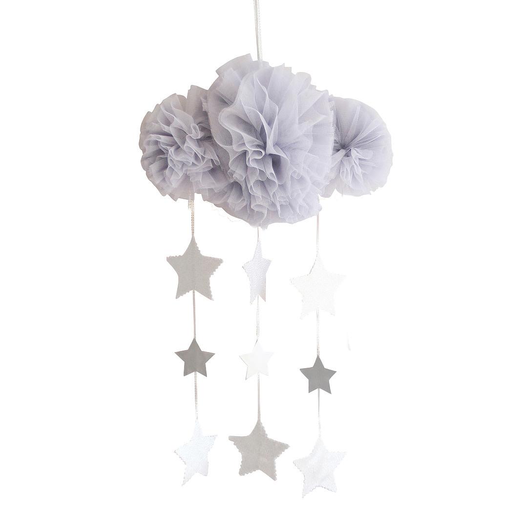 Alimrose Tulle Cloud Mobile - Mist & Silver