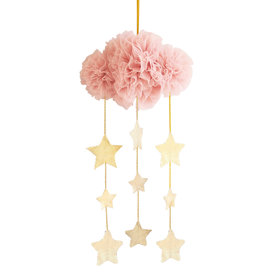 Alimrose Alimrose Tulle Cloud Mobile - Blush & Gold