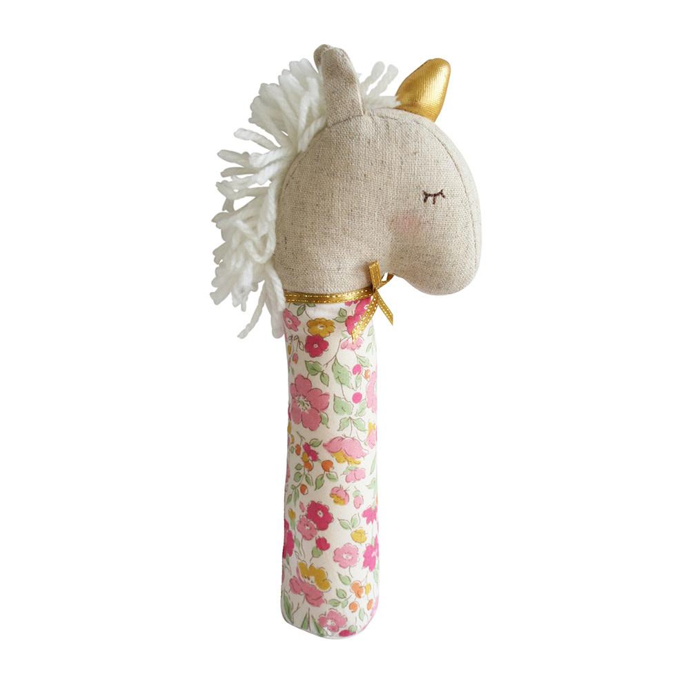 Alimrose Yvette Unicorn Squeaker - Rose Garden