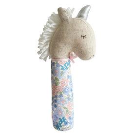 Alimrose Alimrose Yvette Unicorn Squeaker - Liberty Blue