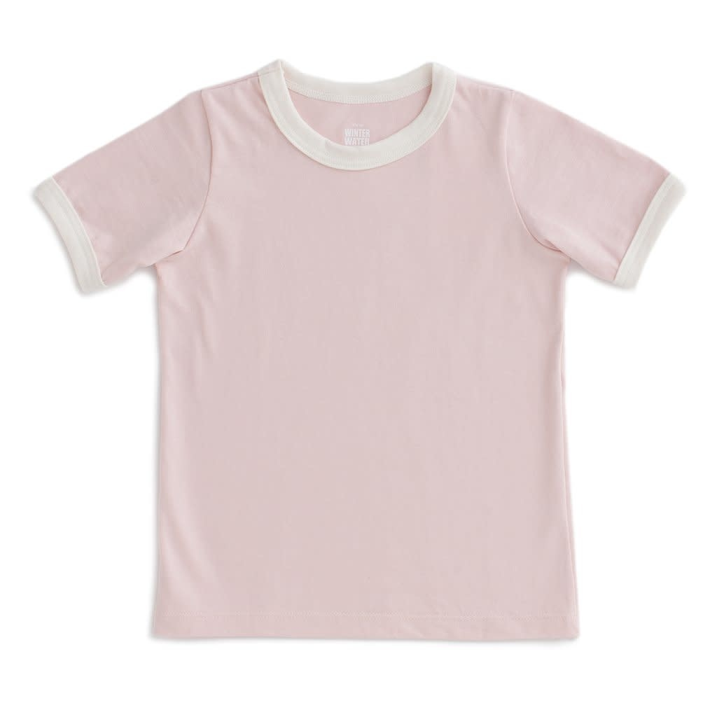 Winter Water Factory Ringer Tee - Solid Pink