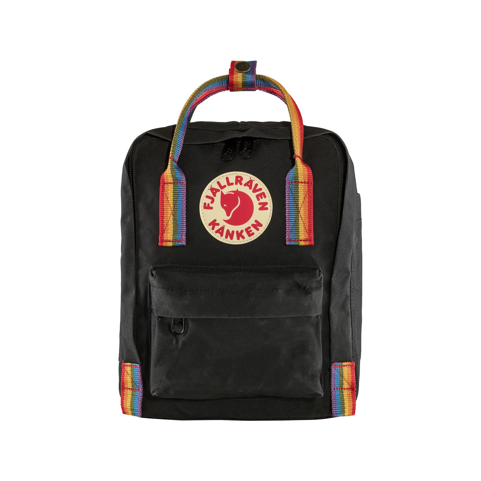 Fjallraven Arctic Fox LLC Fjallraven Kanken Mini Backpack - Black Rainbow