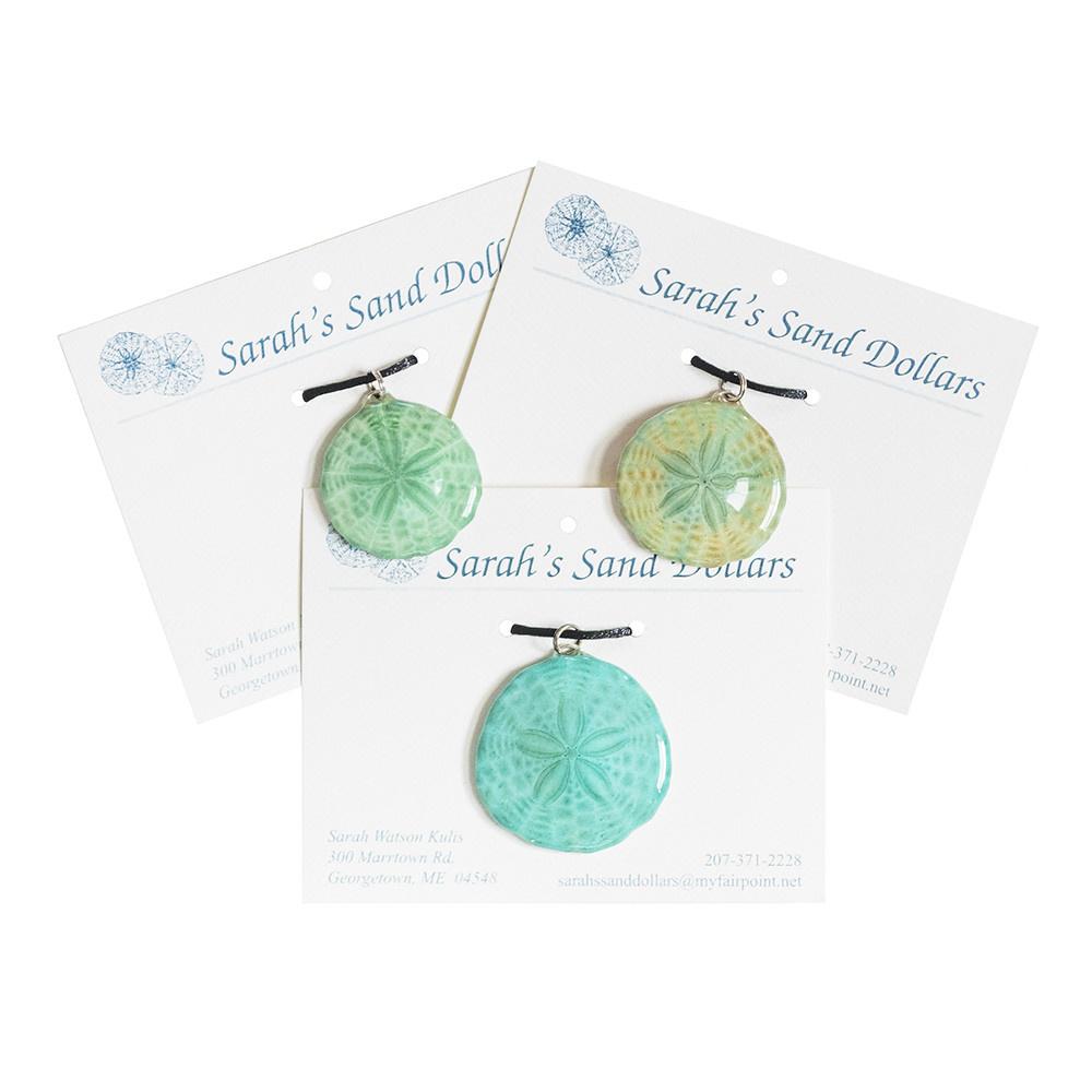 Sarah's Sandollars Sarah's Sand Dollar Necklace - Shades of Green