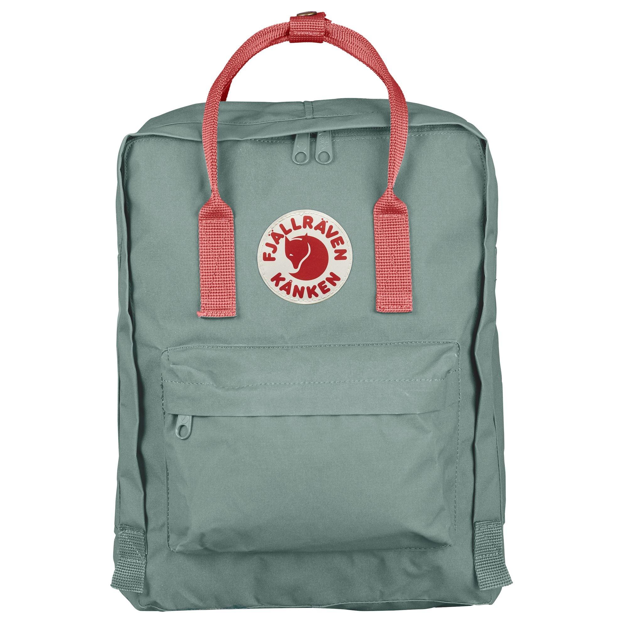 Fjallraven Arctic Fox LLC Fjallraven Kanken Classic Backpack - Frost Green-Peach Pink