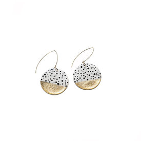 Clay N Wire Clay N Wire Dangle Earrings - Polka Dot Circle