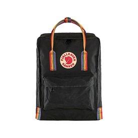 Fjallraven Arctic Fox LLC Fjallraven Kanken Classic Backpack - Black Rainbow Pattern