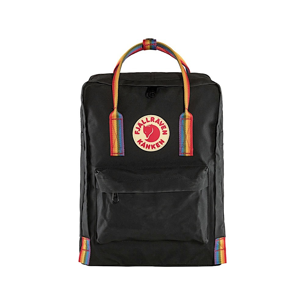 Fjallraven Arctic Fox LLC Fjallraven Kanken Classic Backpack - Black Rainbow Pattern