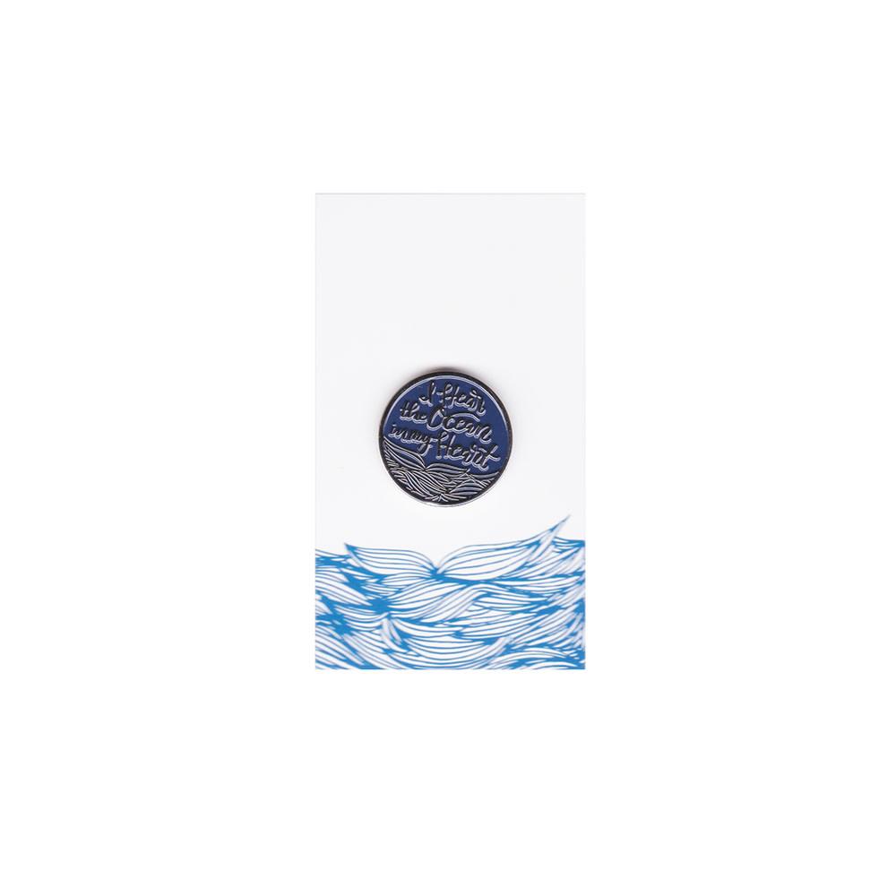 Happy Sappy Mail Pin - I Hear The Ocean