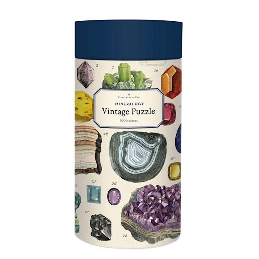 Cavallini Jigsaw Puzzle - Mineralogy - 1000 Pieces