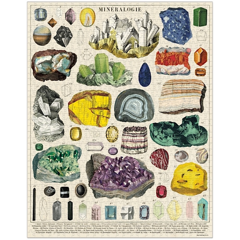 Cavallini Jigsaw Puzzle - Mineralogy - 1000 Pieces
