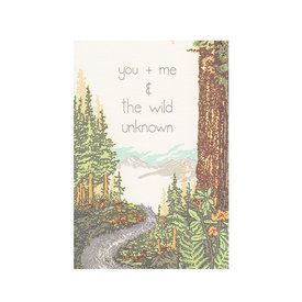 Old School Stationers Old School Stationers Card - You + Me & The Wild Unknown