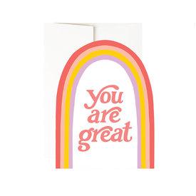 Idlewild Co. Idlewild Card - Great Rainbow Diecut