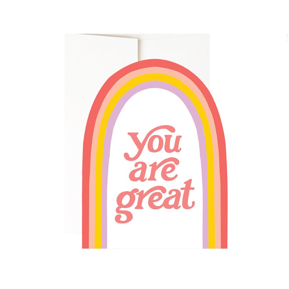 Idlewild Card - You Are Great Rainbow Diecut