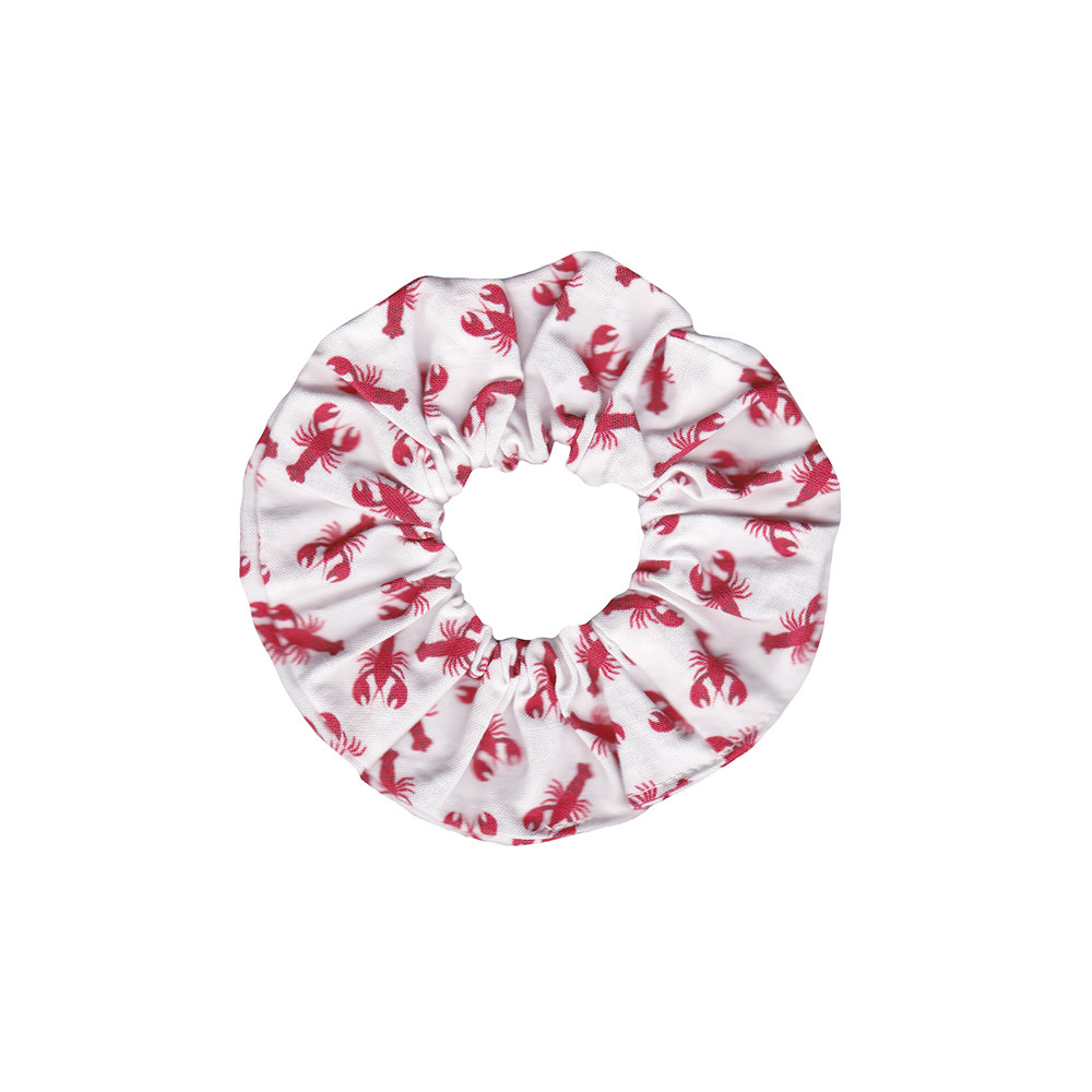 Two Little Beans Scrunchie - Lobster/Red