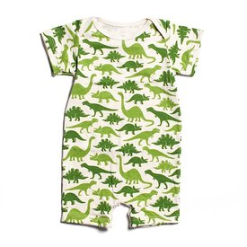 Winter Water Factory Winter Water Factory Summer Romper - Dinosaurs Green