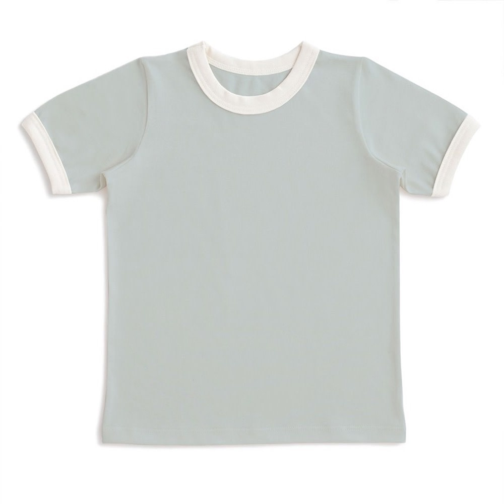 Winter Water Factory Winter Water Factory Ringer Tee - Solid Pale Blue