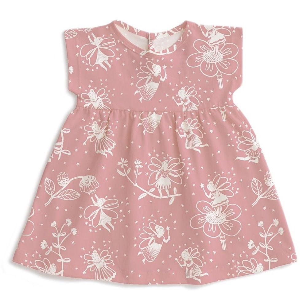 Winter Water Factory Winter Water Factory Merano Baby Dress - Fairies Dusty Pink