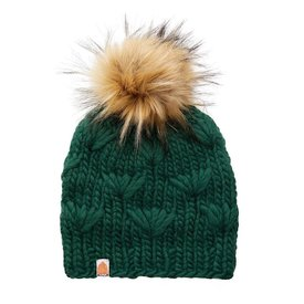 Sh*t That I Knit Sh*t That I Knit - Motley Beanie - Forest - Faux Fur Pom