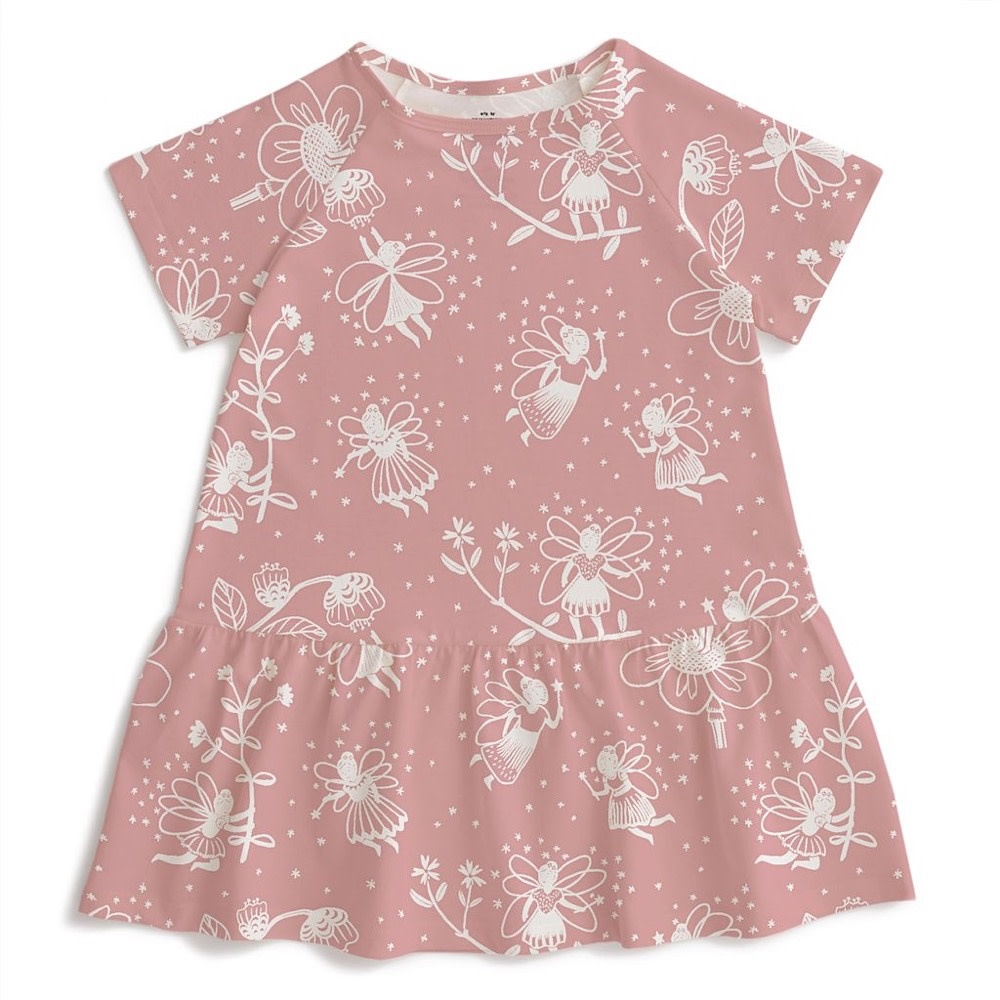 Winter Water Factory Milwaukee Dress - Fairies Dusty Pink
