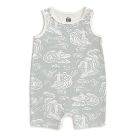 Winter Water Factory Winter Water Factory Tank Top Romper - Surfers Pale Blue