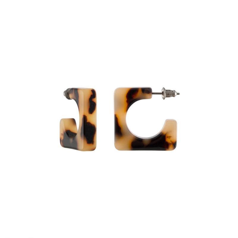 Machete Machete - Atlas Hoop Earrings - Blonde Tortoise