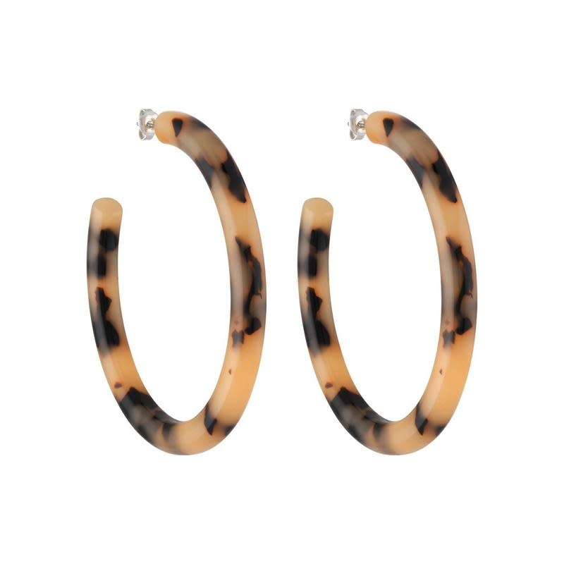 Machete - Bold Hoop Earrings - Blonde Tortoise