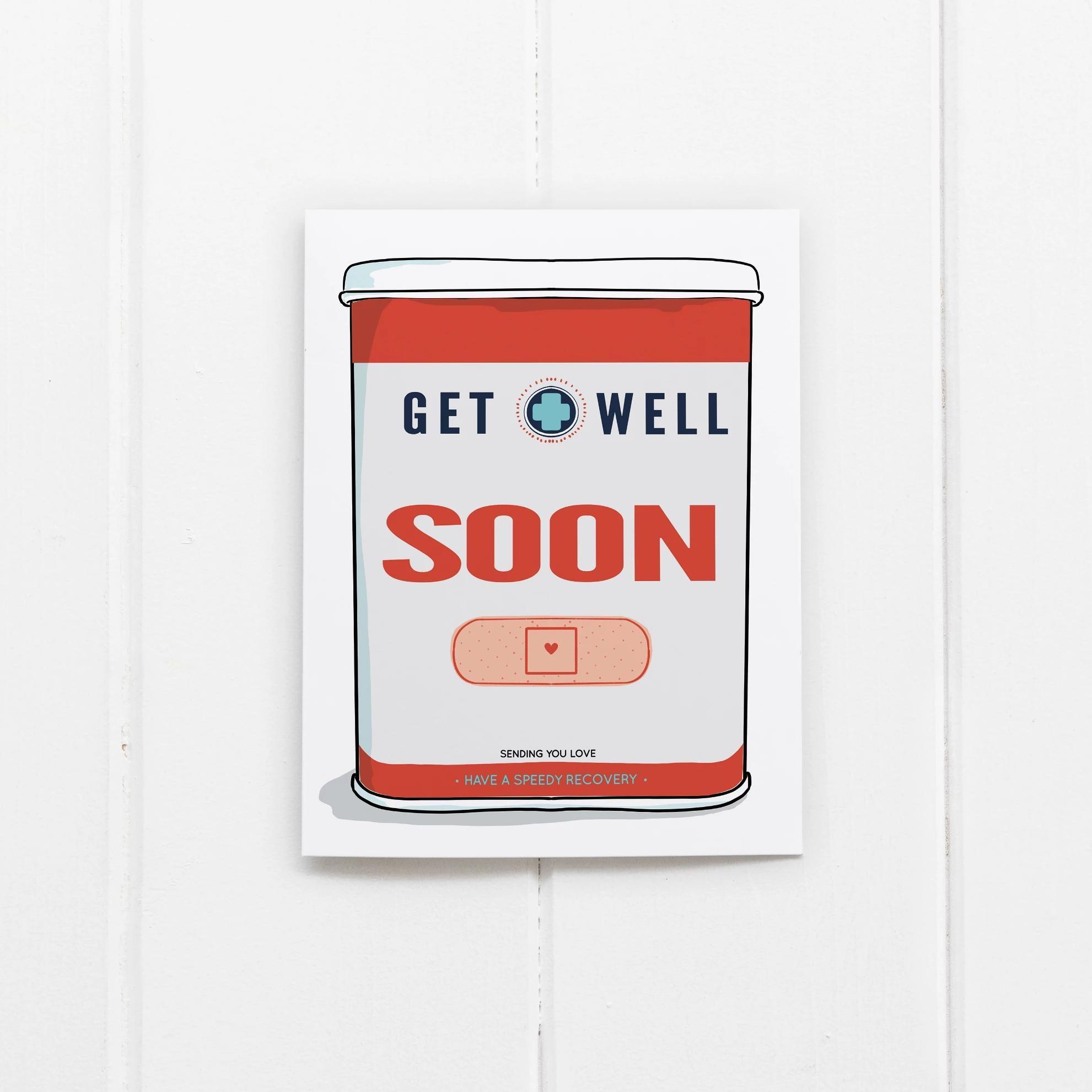 Ramus & Co Ramus & Co Card - Get Well Soon Bandaids