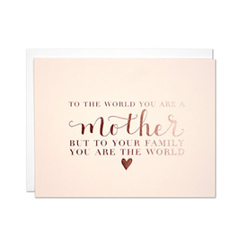 Parrott Design Studio Parrott Design Card - The World Mother's Day