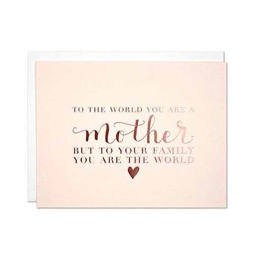 Parrott Design Studio Parrott Design Card - The World Mother's Day