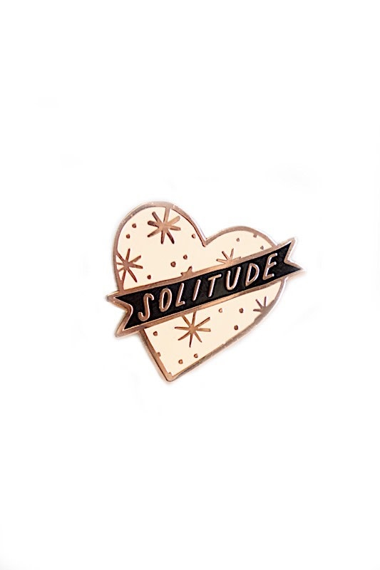 Stay Home Club Lapel Pin - Pink Solitude