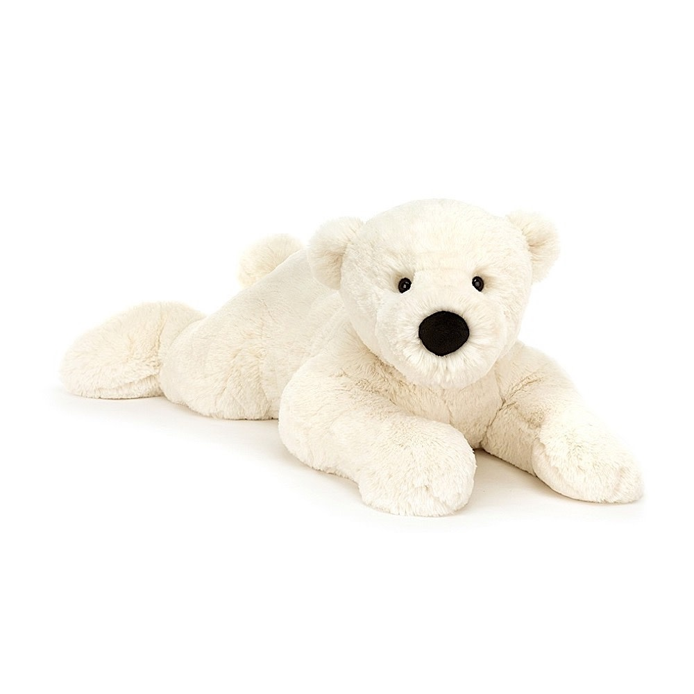 Jellycat Perry Polar Bear Lying Pose
