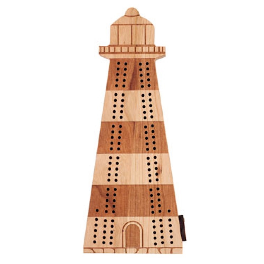 Maple Landmark Cribbage - Lighthouse