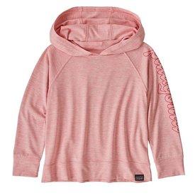 Patagonia Patagonia Baby Cap Cool Daily Sun Hoody - Fitz Script Rosebud Pink