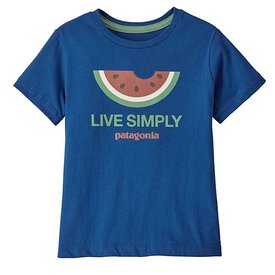 Patagonia Patagonia Baby Live Simply Organic T-Shirt - Melon Superior Blue
